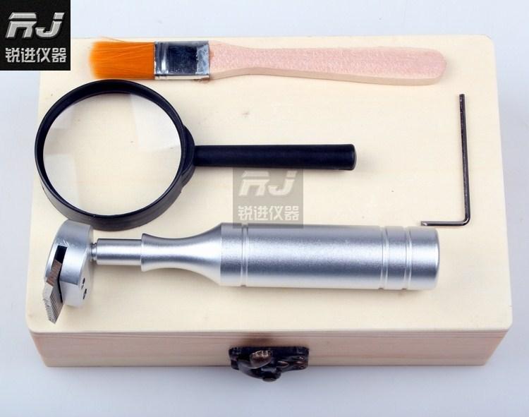 (QFH) película de corte cruzado/100/probador de Adhesión/caja de cuchilla de celosía