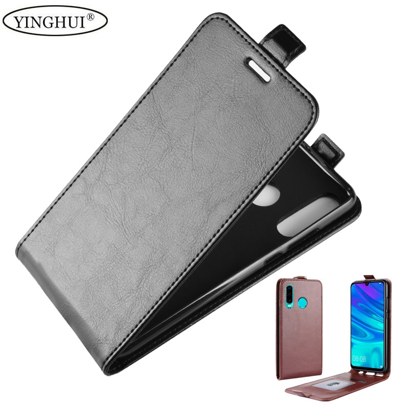 Para Huawei P30 Lite caso de cuero de PU Flip funda trasera suave TPU para Huawei P30 Lite bolsa de lujo Vertical bolsa protectora de teléfono