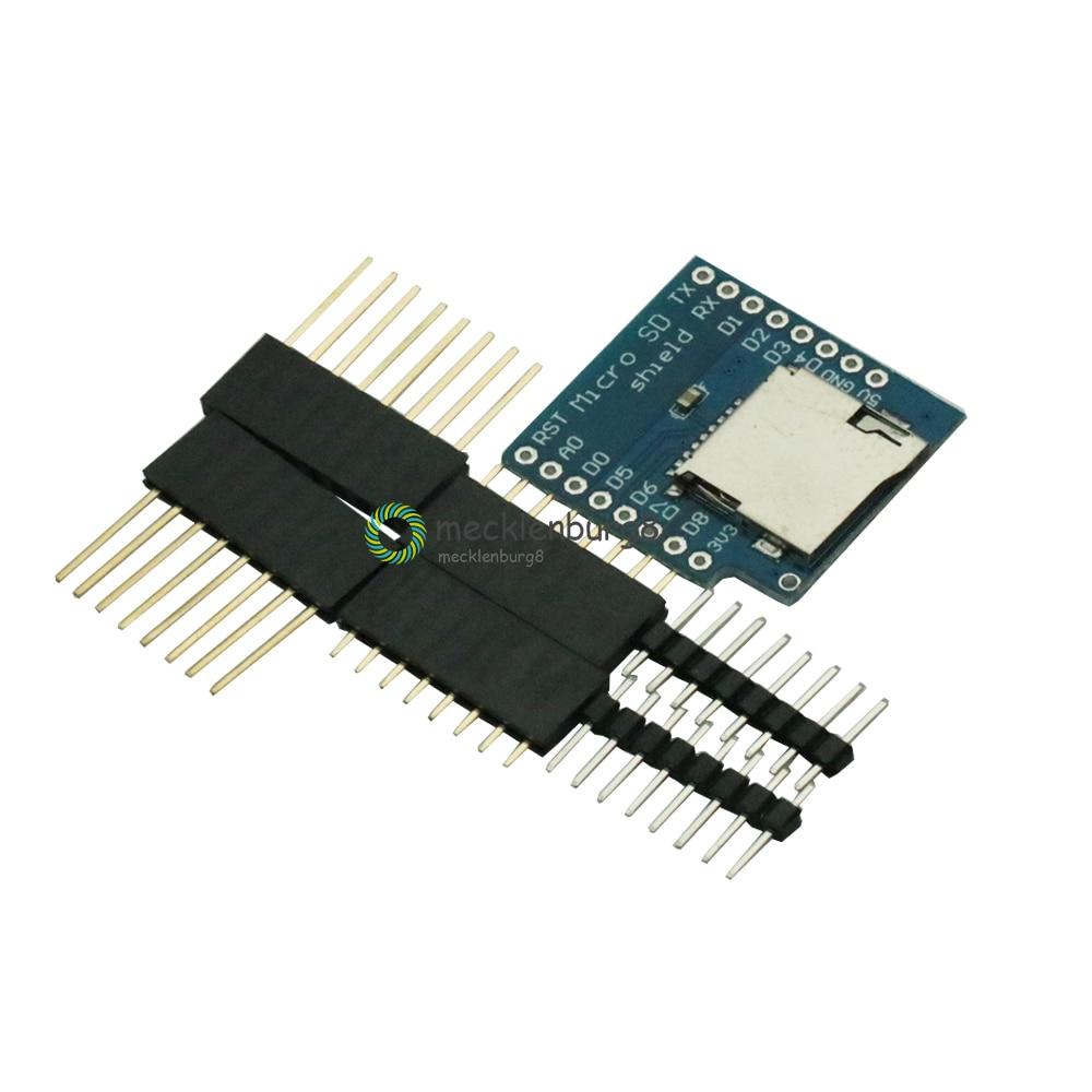 Para WeMos D1 tarjeta Micro SD escudo Mini TF Wi-Fi ESP8266 SD Compatible módulo inalámbrico para Arduino para WeMos D1 Mini