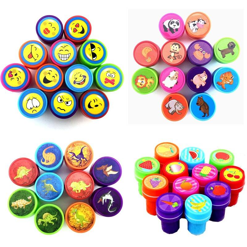 ¡12/36 Uds nuevo! Bonito Set de sellos de goma con diseño de dibujos animados para álbum de recortes material escolar para niños juguetes de dibujo divertido regalo de fiesta