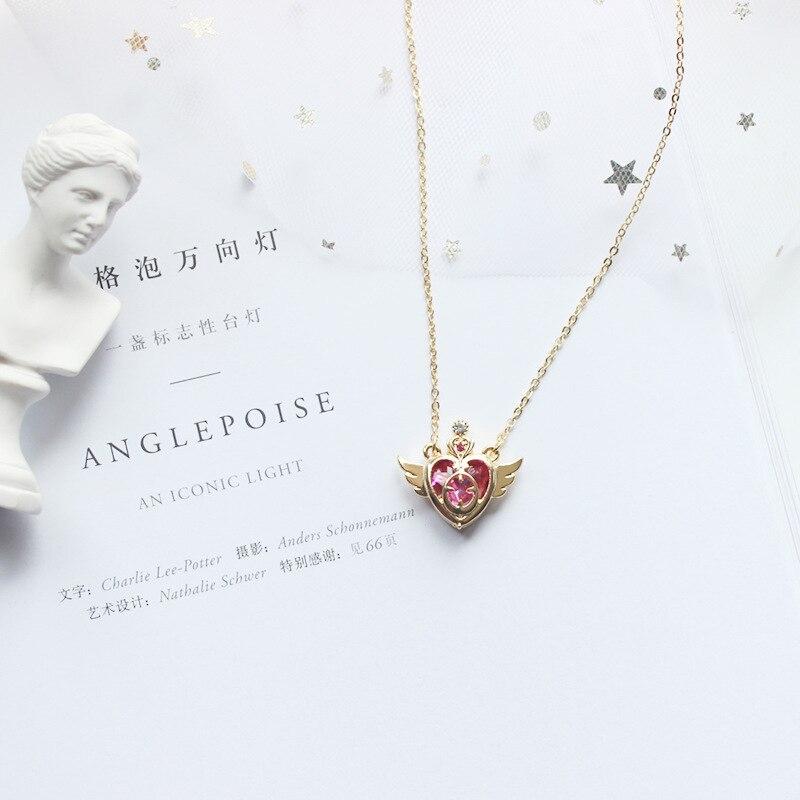 Anime Sailor Moon colgante Cosplay accesorios prop Tsukino Usagi corazón en forma de joyería collar