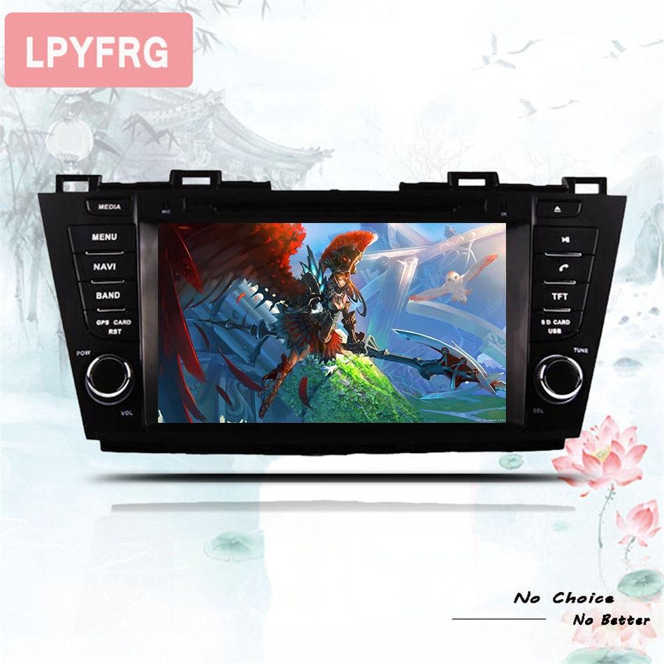 "8 ""HD 1024*600 IPS pantalla coche multimedia pc radio monitor gps música mp5 dvd para Mazda 5 2009 ~ 2013 Android 9,0 4GB + 64GB px5 rds"