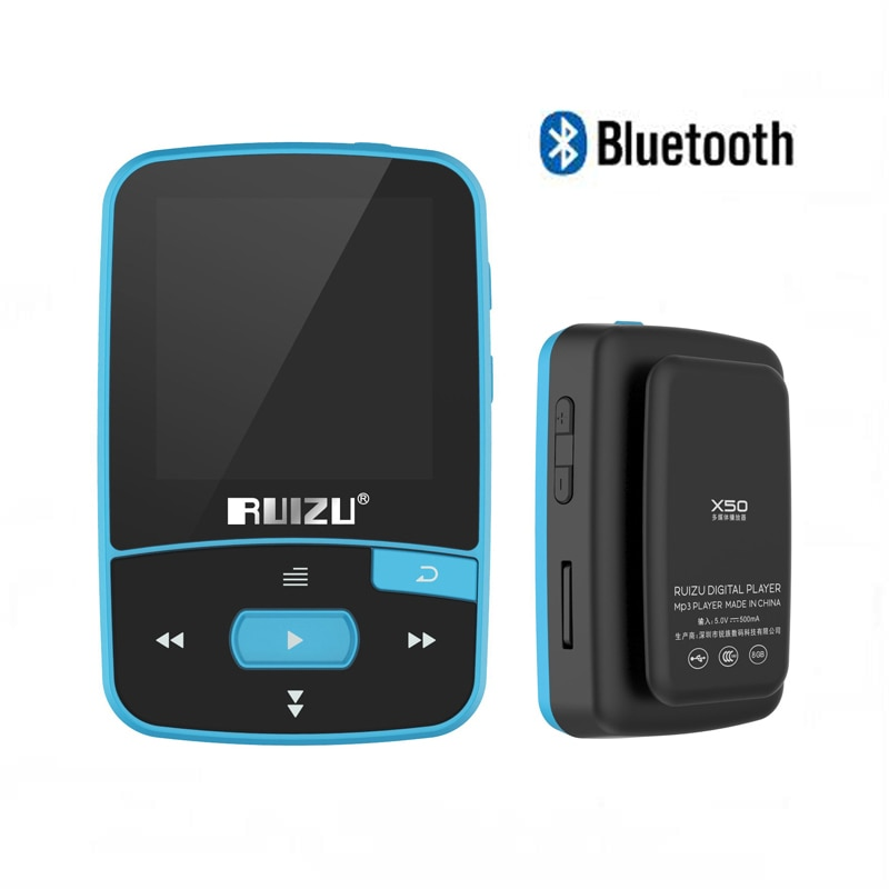 Ruizu X50 deporte de Audio Mini Bluetooth Mp3 la música reproductor de Audio Mp 3 DE Mp-3 con Radio Digital Hifi alta fidelidad pantalla 8Gb mini mp3 jugador