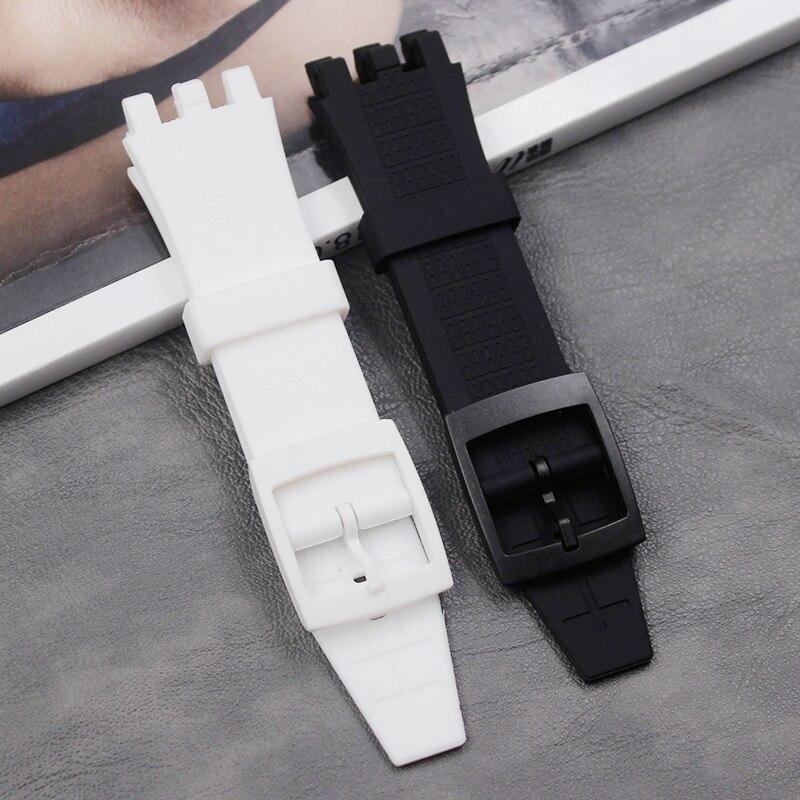 Correa de silicona para hombre, accesorios de reloj para Swatch VGK403 SVGK406SVGK409 402, hebilla de correa de goma impermeable para mujer