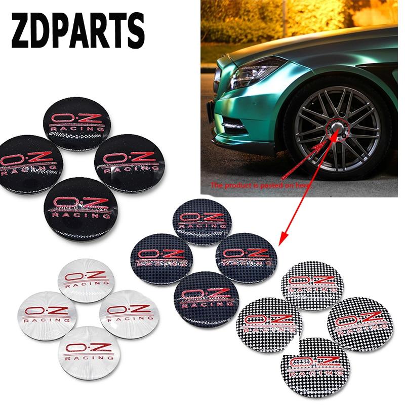 ZDPARTS, 4 piezas, pegatinas de cubierta de tapa de cubo de rueda O.Z para Suzuki Grand Vitara Swift SX4 Mitsubishi ASX Audi A 4 Fiat 500