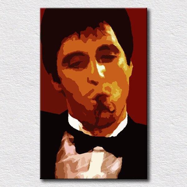 Póster de película pintura al óleo de Scarface para pared de dormitorio pinturas decorativas de pared de lona de alta calidad