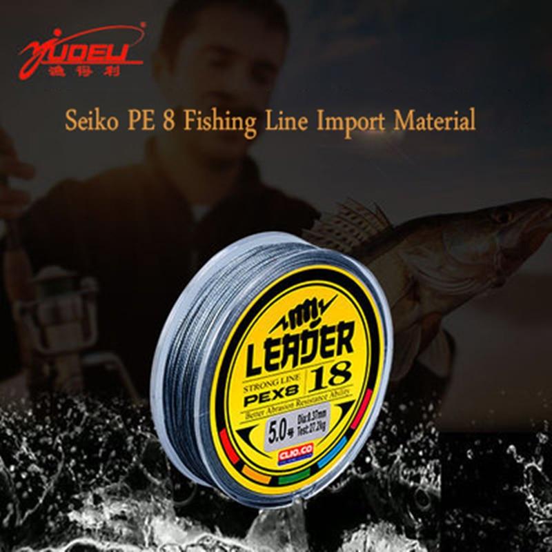CLIO. CO marca 8 Trenzado Súper fuerte 50M 8 hebras tejidas PE trenzado hilo de pesca cuerda Japón multifilamento 10-250lb