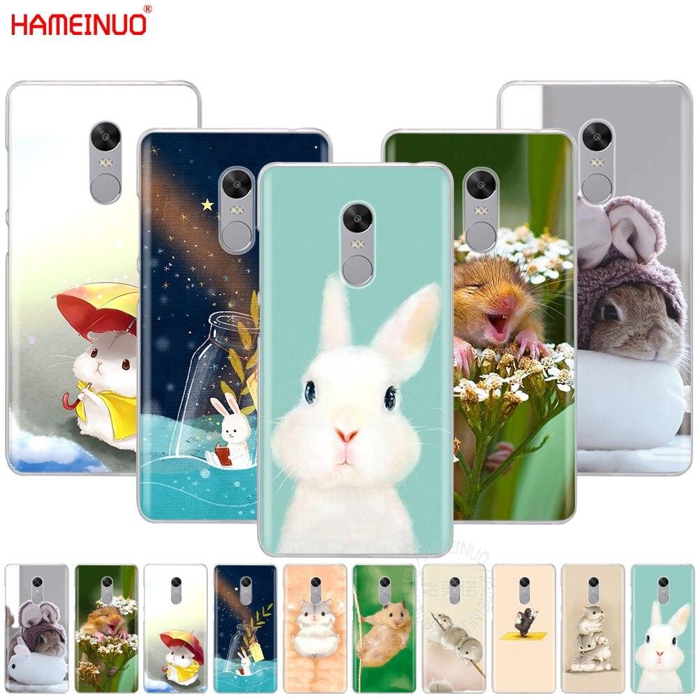 HAMEINUO conejo ratón hámster cubierta funda de teléfono para Xiaomi redmi 5 4 1 1s 2 3 3s pro PLUS redmi note 4 4X 4A 5A