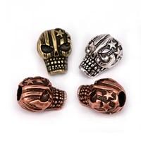 charms skull bead pentagram pattern for mens paracord survival bracelet making