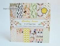 season series scrapbooking paper pack craft paper art card card making 6x 6 24 sheets pack