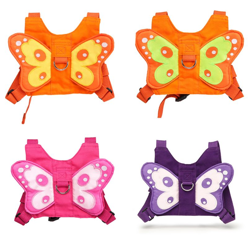 2020 детский рюкзак с бабочкой для прогулок, детский мини-рюкзак с защитой от потери, милый мультяшный рюкзак на плечо