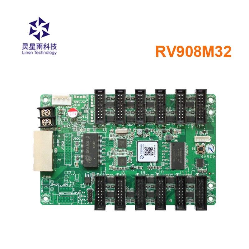 Cartão de Controle Cartão de Recepção Linsn Display Vídeo Sistema Controle Cor Cheia Síncrono Led Rv908m32