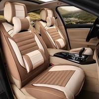 new flax four seasons general car seat cushions car styling car seat cover for bmw audi toyota honda ford all sedan