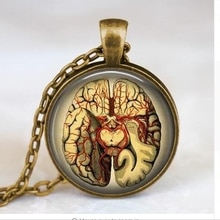 Gros Steampunk bijoux anatomique cerveau collier pendentif gothique collier science pendentif biologie médical étudiant A-024 HZ1
