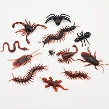 10PCSLot blague drôle tour blague spécial réaliste modèle Simulation faux Scorpion cafard mouche Scorpion Centipede Houselizard à