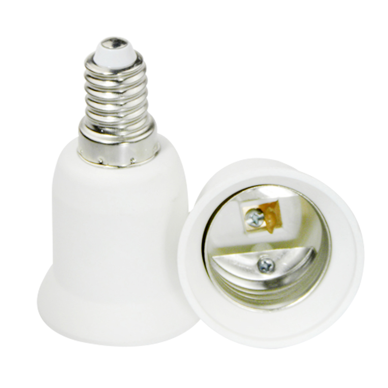 Casquillo de lámpara de conversión E14 a E27 tornillo pequeño a tornillo grande retardante de llama protección del medio ambiente PBT m