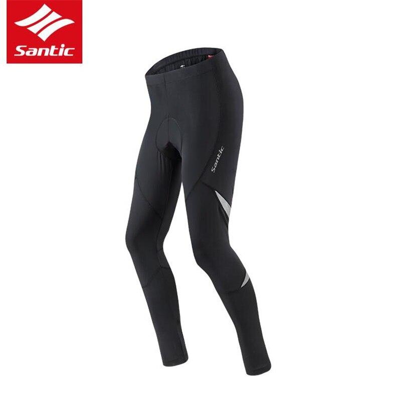 Santic Men Cycling Tights Pants Summer Autumn 4D Padded Long Road MTB Bicycle Pants Reflective Pants Trousers Ciclismo