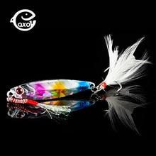 Qxo isca de pesca 10 20 30g jig luz silicone isca wobbler spinners colher isca inverno mar gelo minnow enfrentar lula peche polvo