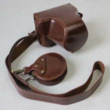 Ocotex Luxury PU Leather Case For Fujifilm Fuji XA5 x-a5 XA20 x-a20 15-45mm Lens Cover Pouch Half Body Camera Bag+Should Strap