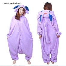 Halloween Kigurumi Anime violet particulier Onesie Cosplay Costume unisexe dessin animé Umbreon pyjamas fête pour adultes hommes femmes