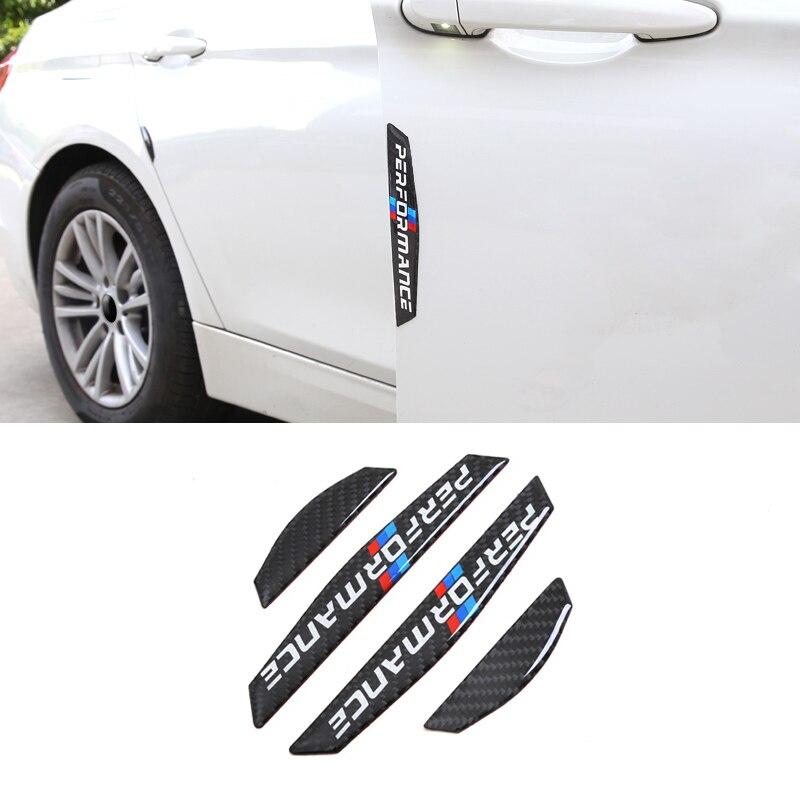 De fibra de carbono protector de puerta de coche Anti-colisión tiras pegatinas laterales para Audi A1 A4 A5 A3 A6 A8 A7 Q3 Q5 Q7 80 C5 C6 C7 TT B1