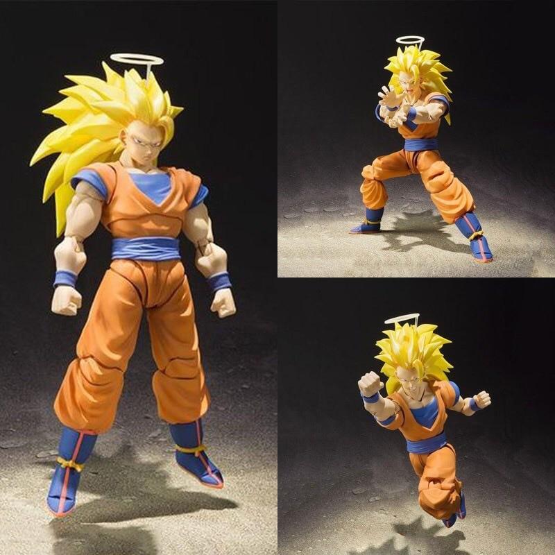 ThinkEasy shfy Dragon Ball Super Saiyan 3 GOKOU Gogeta PVC Action Figure Toy Dragon Ball z figure colosseum