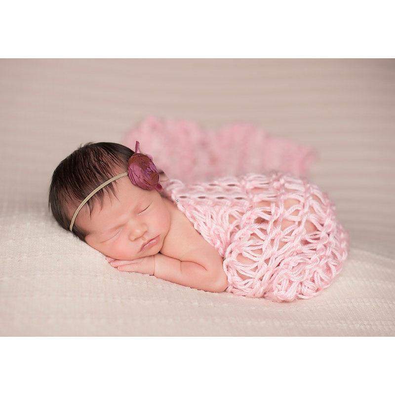 Cesta de Manta trenzada de relleno de algodón de 40*60cm Accesorios de fotografía recién nacido 3 colores regalo de Baby Shower ZQY001