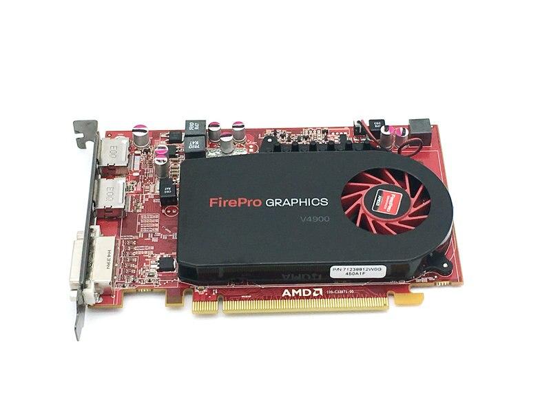 Orijinal FirePro V4900 1G DDR5 profesyonel grafik kartı CAD tasarım 3D düzenleme