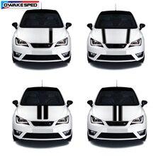Course Sport rayures capot de voiture vinyle décalcomanie Automobile moteur couverture carrosserie décor autocollant pour siège Leon Mii Ibiza FR TGI ST Cupra