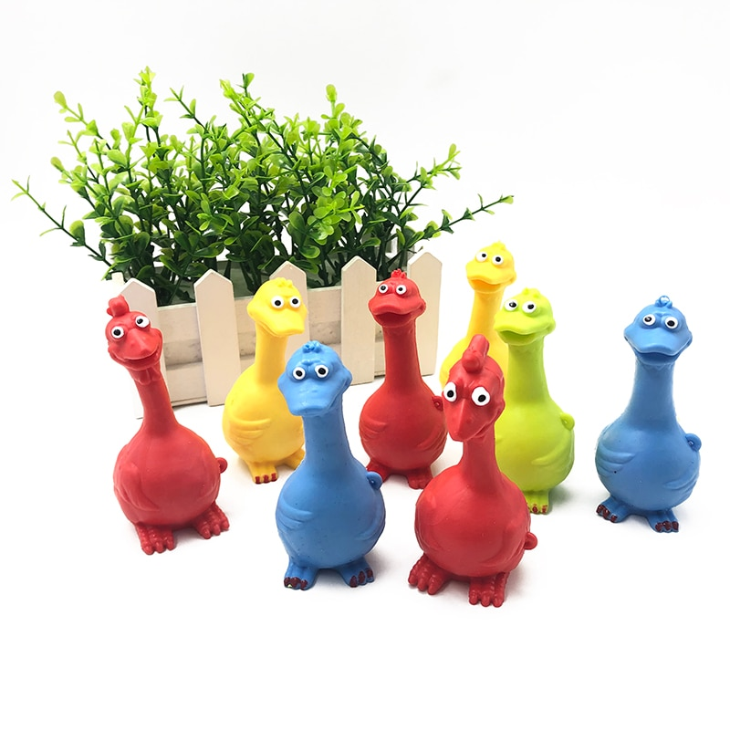 4Pcs Funny Squishy Duck Chinken Shape Squeeze Egg Decompression Children's Toys Stress Release enlarge