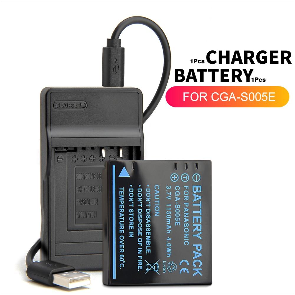 DMW-BCC12 CGA-S005 CGA-S005E batería + cargador USB para cámara Panasonic Lumix DMC-LX1 DMC-LX2 DMC-LX3 DMC-FX180 DMC-FX150 DMC-FX01