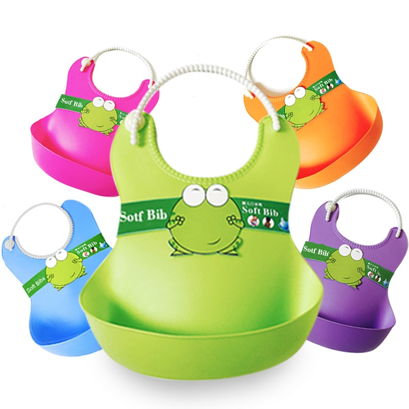Baby bibs waterproof  Lunch Bibs Boys Girls Infants  silicone feeding baby saliva towel  cartoon waterproof aprons Baby Bibs Bab