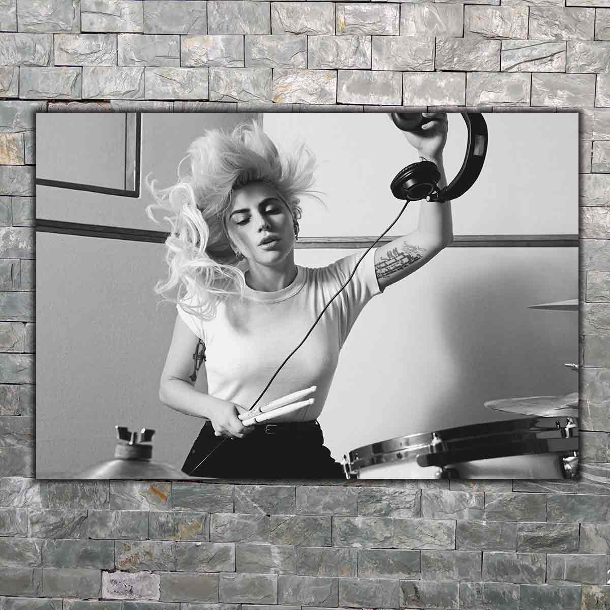 Cartel de arte impreso caliente decoración de pared del hogar 8x12 12x18 24x36decor lona LADY GAGA Joanne 2017 música de gira mundial estrella caliente