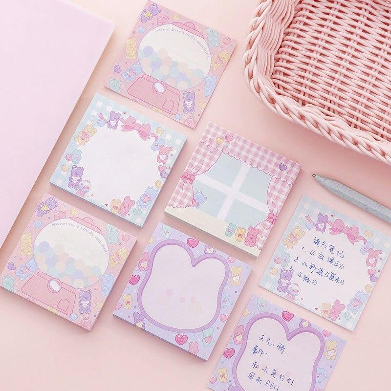 Rosa Mädchen ins Stil Notizblock N Mal Klebrigen Notizen Memo Notiz niedlich planer aufkleber Lesezeichen Schreibwaren