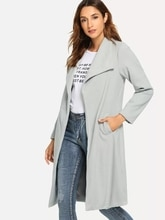 Abrigo de lana gris claro para mujer X-Long Turn-down Collar Slim chaqueta Outwear abrigo de invierno mujer casaco C8N391