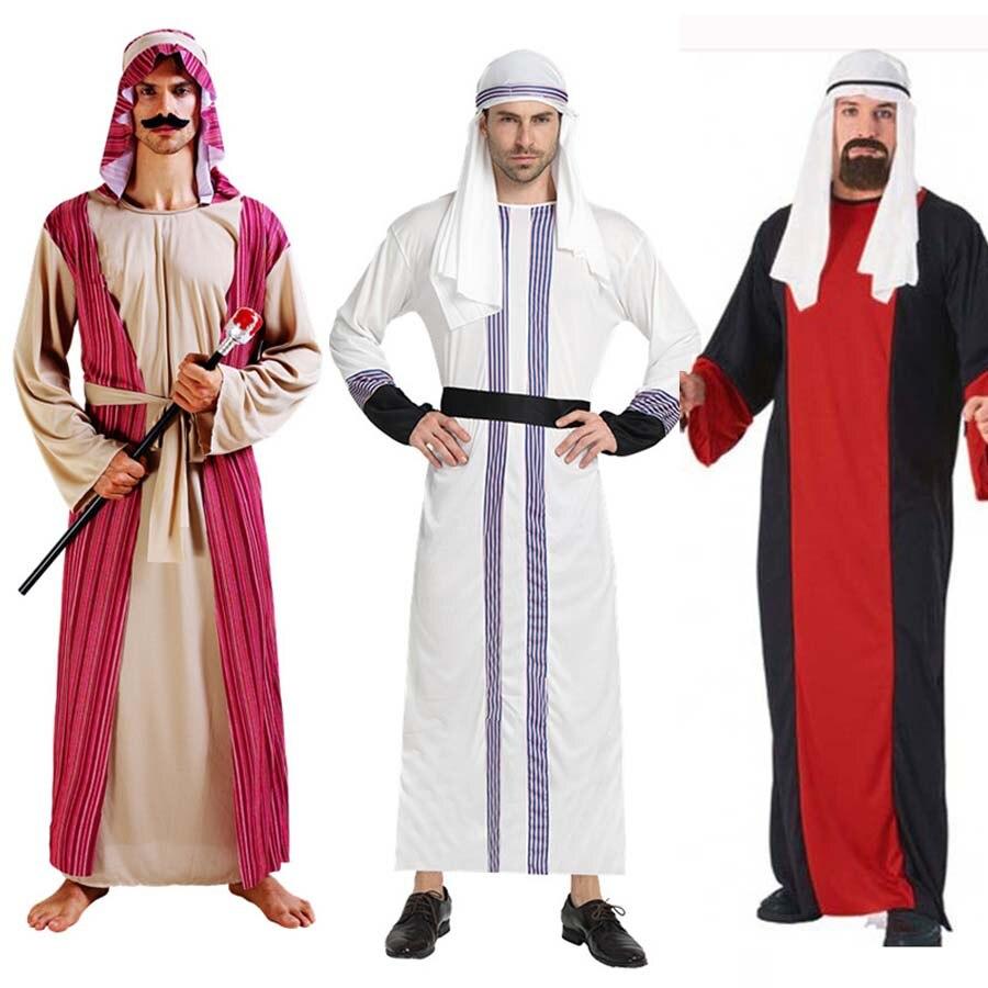 Nuevos adultos hombres árabes traje de rey Príncipe Dubai ropa de disfraz de Halloween carnaval suministros para fiesta con baile Purim de Navidad