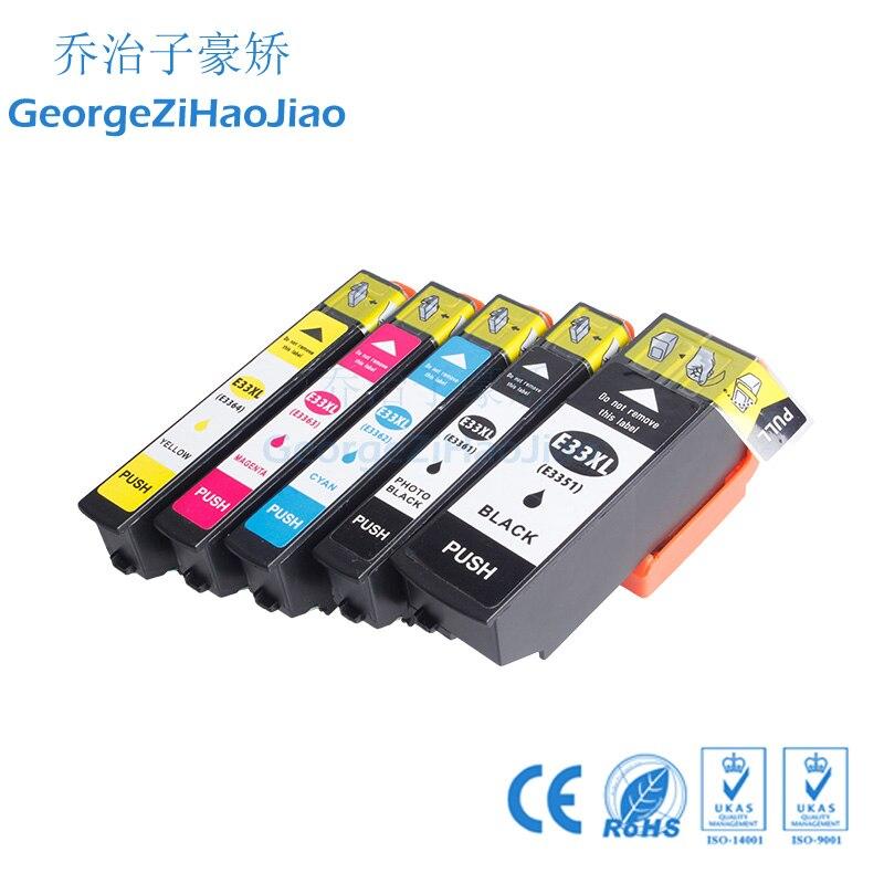 5 uds 3351XL cartucho de tinta Compatible para Epson XP-530 XP-630 XP-830 XP-635 XP-540 XP-640 XP-645