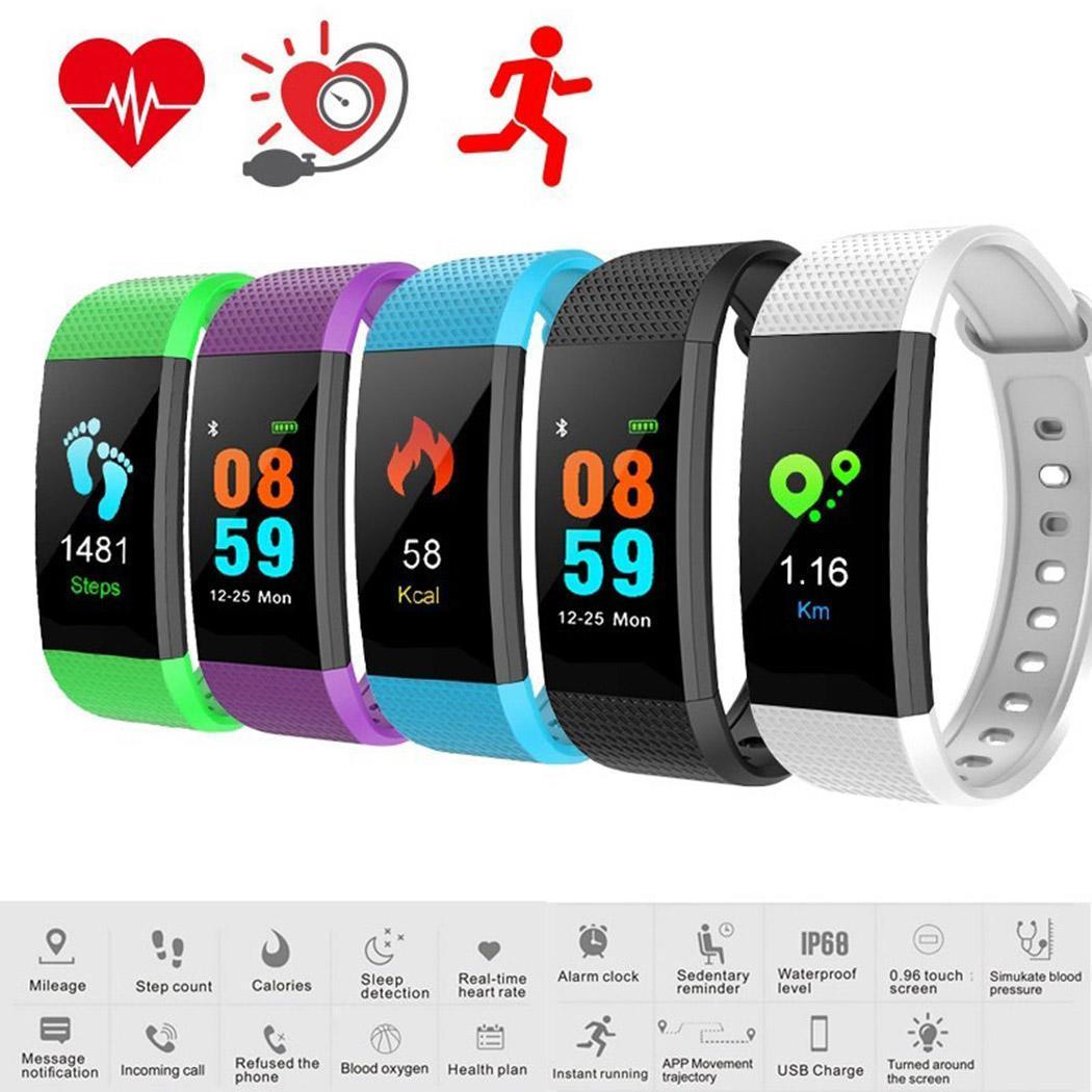 Новый цветной экран Смарт часы с монитором сердечного ритма кровяное давление
