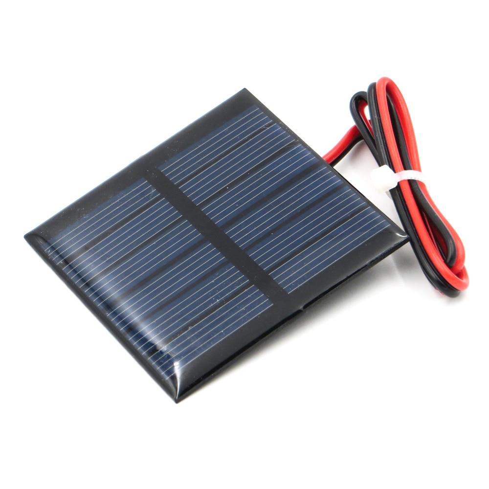Panel Solar con cable de conexión 1/1. 5/2/3/3,5/4 V 100mA 120mA 150mA 250mA 300mA 350mA 435mA 500mA cargador de teléfono celular