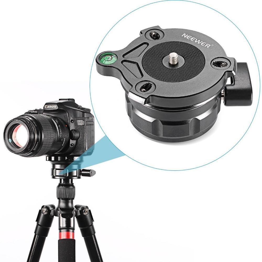Neewer-حامل ثلاثي القوائم ، قاعدة تسوية مع مستوى الفقاعة ، لكانون ونيكون وكاميرات DSLR الأخرى