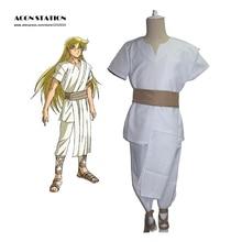 2018 livraison gratuite nouveau Saint Seiya âme dor Saints vierge Shaka blanc uniforme Anime adulte enfant Halloween Cosplay Costume