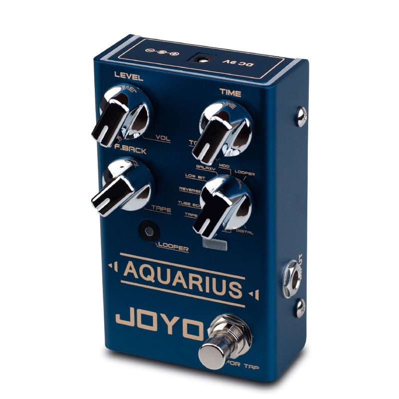 JOYO AQUARIUS Delay Pedal Effect Guitar Processor Digital Simulation Looper Effects Electric Guitar Parts Musical Instruments enlarge