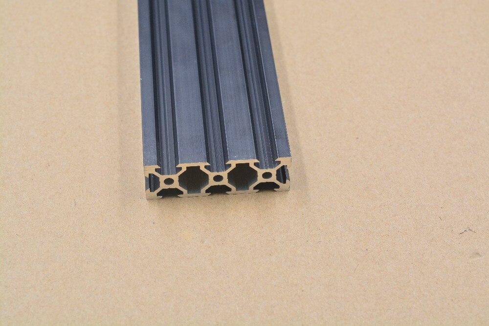 2060 aluminium extrusion profil europäischen standard 2060 v-slot schwarz länge 500mm aluminium profil werkbank 1 stücke