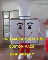 advertising anime cosply costumes red kitchen cooking book mascot costume cook theme carnival mascotte fancy dress kits 1976