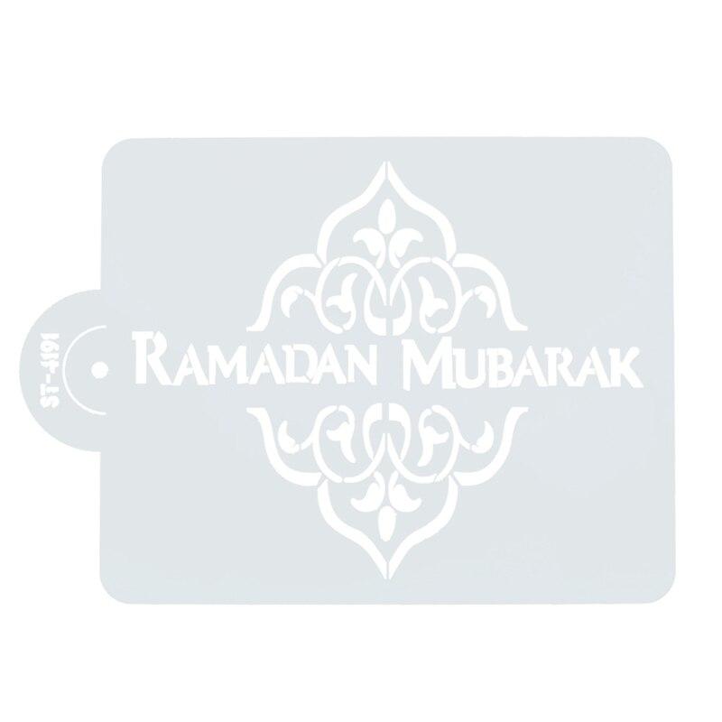 Diseño Mubarak Ramadán, plantillas de café cortadas con láser, galletas con fondant, herramientas de decoración de pasteles