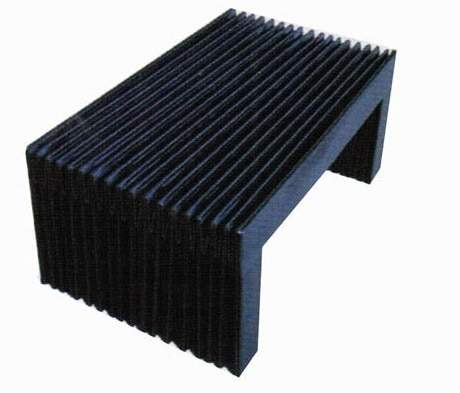 Tri-proof nylon cloth accordion cnc machine dust cover bellows,W145mm x H35mm x extension 300mm