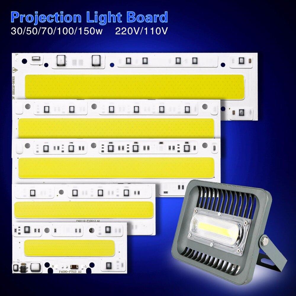 LED COB Chip 30W 50W 70W 100W 150W Replacement Chip AC 220V 110V IP65 Smart IC For DIY LED Floodlight Spotlight White Warm White