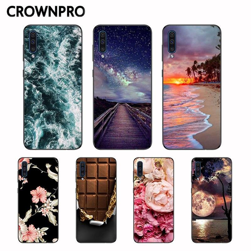 Funda suave CROWNPRO para Samsung Galaxy A50 A 50 2019, carcasa trasera de silicona para Samsung A50, funda protectora de TPU, A505, A505F, móvil