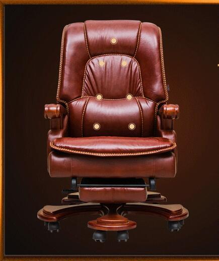 Фото - Офисное кресло из цельного дерева, кресло для дома, офисное кресло, кожаное кресло для отдыха, компьютерное кресло, вращающееся кресло. кресло