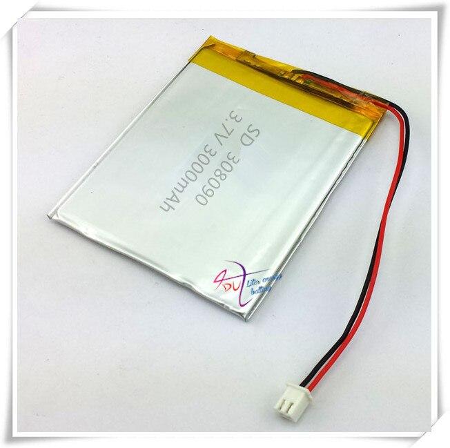 Li-po XHR-2P 2,54 de 3000 mAh 3,7 V en la oferta especial de núcleo de la batería de litio polímero 308090